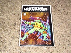 TEENAGE MUTANT NINJA TURTLES MICRO SERIES: LEONARDO SPECIAL # 1 MIRAGE 1988 VF+