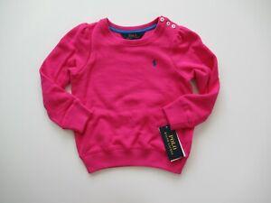 NWT Ralph Lauren Girls Cotton Blend Fleece Pullover Sweatshirt Sweater 5 6 6x