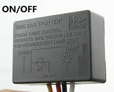 Zing Ear TP-01 ZH Touch Light Switch ON/OFF Table Lamp Module Sensor 150W 120V