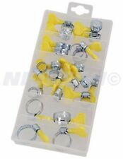26 Pc Hose Clamp  Jubilee Clip Assortment with durable keys so no tools required