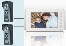 """Videocitofono 7"""" colori FOTO 2 telecamere ultra sottile memoria notturna (402)"""