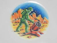 Set of 4 vintage plastic man walking on moon/mars small childrens cereal bowls