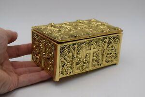 + Ornate Brass Tabernacle Key Box + Reliquary Relic Box + chalice co. (CU816)