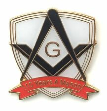 10 Years a Mason Masonic Commemorative Lapel Pin Badge *Exclusive*