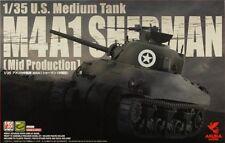 Asuka M4A1 Sherman Mid Production 1:35 Bausatz Kit 35-010 Panzer Tank
