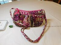 Vera Bradley Very Berry Paisley crossbody mini handbag purse shoulder bag retire