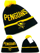 Pittsburgh Penguins New Adidas Cuffed Fanatics Beanie Black Gold Pom Era Hat Cap