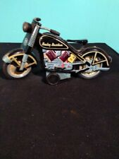 REPRODUCTION HARLEY DAVIDSON MOTORCYCLE FRICTION TIN TOY  WITH SPARKING CYLINDER