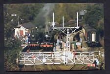C1990's View of Two Steam Trains at Grosmont Level Crossing.
