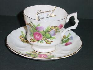 Royal Windsor Tea Cup & Saucer Numbered Fine Bone China England Flowers & Ribbon