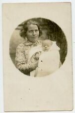 Native ? Woman and Child Vintage Photo Postcard