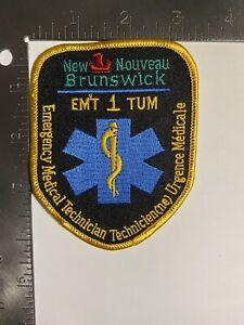 NEW BRUNSWICK EMERGENCY MEDICAL TECHNICIAN EMT 1 PATCH CANADA