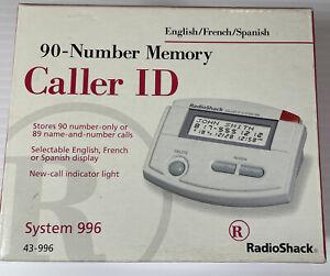 Radio Shack 90 Memory Caller ID 43-996 White NOS English/French/Spanish