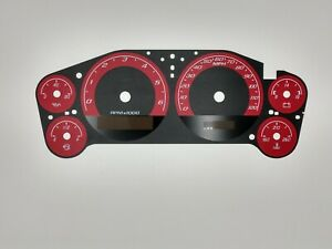 Custom Red Gauge Face Overlay Inlay for 2007-2013 Silverado Sierra Tahoe New
