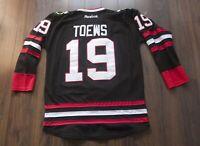 Jonathan Toews Jersey Third Chicago Blackhawks Fight Strap Size 52 *F0122a9