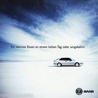 Prospekt Saab 93 1999 Warmes Essen Kalter Tag Zubehör Autoprospekt Broschüre