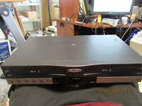 GO.VIDEO DDV 9355 DOUBLE VHS TAPE DECK.