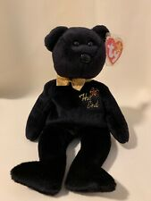 "TY Beanie Babies ""THE END"" Black Y2K Millennium Teddy Bear RETIRED! RARE TAG!"