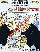 Les dossiers du canard n°82 du 12/2001 Le grand bêtisier de l'année 2001