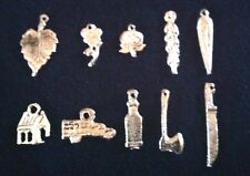 "Mexican Milagros Charms Silver Color Lot of 10 ""what you see is what you get""A23"