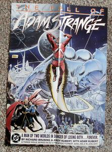 Fall of Adam Strange Promotional Poster, ANDY KUBERT, DC 1990, Unused  r