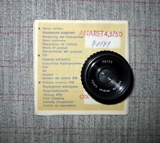 New NOS Meopta Anaret  4,5/50 mm Specially Tested LENS #78171 with box & paper
