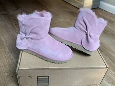 New UGG Womens Classic Mini Twist Boots Pink Dawn 6