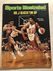 1976 Sports Illustrated NEW YORK NETS vs Denver JULIUS ERVING ABA No Label NBA