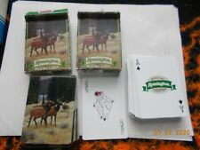 2 Decks Remington Poker Deck Playing Cards, Cards Excellent, Boxes have wear