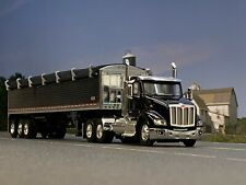 1/64 DCP 579 Pete Day Cab (All Black) w/All Black Tri-Axle Wilson Grain Trailer