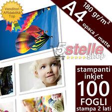 100 Fogli ICE Fotografica A4 Rivestimento Doppio Lato Opaco//Opaco 220 gsm