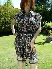 *ANNA SUI* Ladies Black Short Sleeve SILK MINI SHIRT DRESS uk10 BNWOT rrp£450