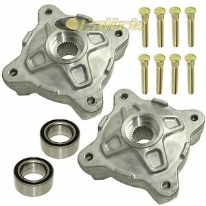 Front Left Right Wheel Hubs W/Studs & Bearings for Polaris RZR 800 EFI 2008-14