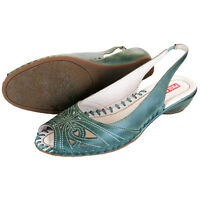 RRP £89 PIKOLINOS WOMENS OPEN-TOE SHOES SLIP ON LEATHER FARBE SANDALS UK 6-7
