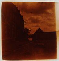 Ville A Identificare Francia Foto Stereo PL59L15n4 Placca Da Lente Vintage c1910