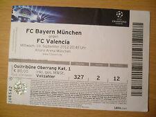 UEFA Champions League TICKET 2012- BAYERN MUNCHEN v VALENCIA
