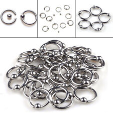 20Pcs Wholesale Circle Sliver Eyebrow Nail Nose Rings Bars Body Piercing Jewelry
