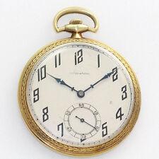 Antique 18K Yellow Gold International Watch Co. 47mm 21J Open Face Pocket Watch