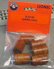 LIONEL BARREL PACK O GAUGE accessories train for loader car oil drum 6-12745 NEW