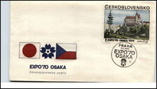 EXPO 1970 OSAKA a/ FDC BRIEF Ceskoslovensko PRAHA St. Cover Ersttag
