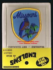 LMH PATCH Badge  MISSOURI  State Bird BLUEBIRD  Flower HAWTHORN  MO  blue 3""