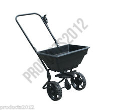 Professional Large Rotary Spreader Lawn Fertiliser Garden Grit Grass Seed Weed