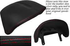 RED STITCH FITS LOTUS ELISE EXIGE S1 96-01 SPEEDO GAUGE HOOD LEATHER COVER ONLY