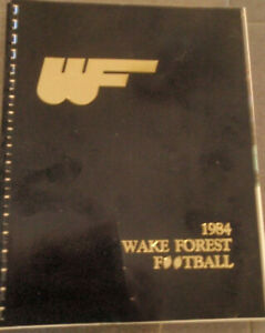 1984 Wake Forest Football Media Guide