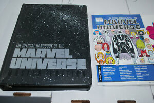 Lot of Official Handbook to the Marvel Universe Master Edition with Binder 1-16?