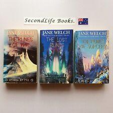 THE RUNESPELL Trilogy ~ Jane Welch. Fantasy. Runes War Lost Sorcery.