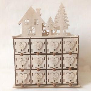 Christmas Advent Calendar DIY Wooden Advent Calendar Home Decor with 24 Drawers