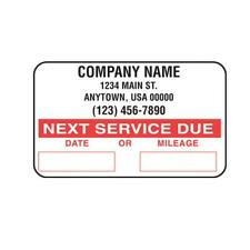 Oil Service Reminder Stickers (Custom) Roll of 1000 Sticker