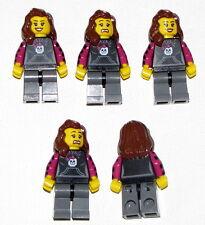 LEGO LOT OF 5 NEW FEMALE GIRLS MINIFIGURES FRIENDS SKELETON SHIRT BROWN HAIR