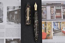 """OLDWIN Classic Torpedo Fountain Pen w/ Sheaffer """"Jungle Green"""" Acrylic, 2004"""
